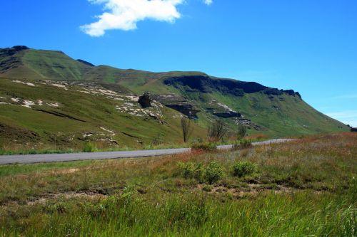 kalnai, Drakensbergas, auksiniai & nbsp, vartai & nbsp, nacionalinis & nbsp, parkas, kelias kalnuose