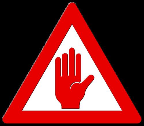 kelio ženklas,dėmesio,skydas,ranka,toli,pakankamai,ne daugiau žodžio,jokio tolesnio žingsnio,turintis,išjungti,basta,punktas,punktas,uždarymas,amen,pastaba,kelio ženklas,kelio zenklas,šaukinys,įspėjimo trikampis