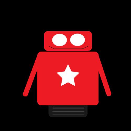 robotas,geometrinis,formos,raudona,žvaigždė,piktograma,ratas,alegre,spalva,pagrindinės figūros,kvadratas,charakteris,laimingas,elektroninis,mechanizmas,mechaninis,žaislas