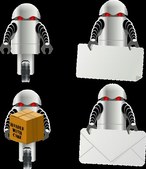 robotas,pristatymas,laiškas,paketas,nešiotis,kroviniai,darbuotojas,elektroninė,įsakymas,futuristinis,paštininkas,kurjerį,valdomas,nemokama vektorinė grafika
