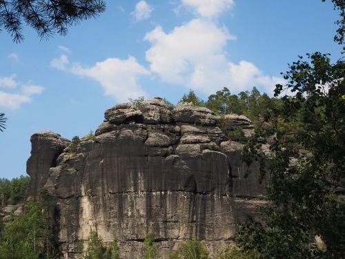 Rokas,domriff,dompfeiler,elbe smiltainis,žygis,smiltainio uolienos,kraštovaizdis,akmens formavimas,žygiai,Elbe smiltainio kalnai,smiltainio kalnas,Saksonijos šveicarija