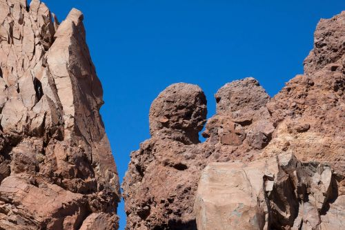 Rokas,los roques,teide,dangus,mėlynas,akmeniniai bokštai