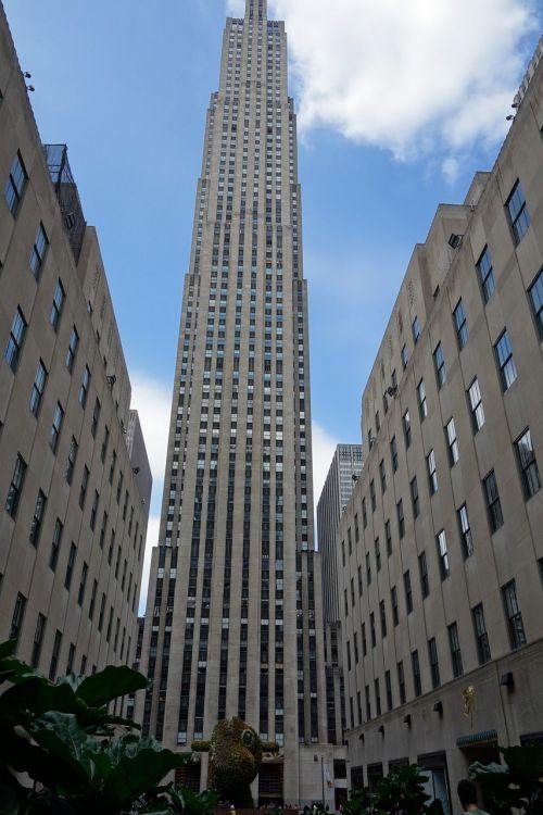 Rockefeller centras,Niujorkas,rockefeller,metropolis,usa,Manhatanas,dangoraižis,architektūra,nyc,pastatas,panorama,miestas,ny,amerikietis,didelis obuolys,didelis miestas,šiuolaikiška,aukštas,akmuo