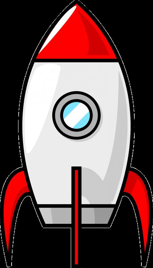 Raketa, Erdvėlaivis, Kosminis Laivas, Nasa, Kosmoso Kelionės, Kosmosas, Kosmosas, Animacinis Filmas, Komiksas, Nemokama Vektorinė Grafika