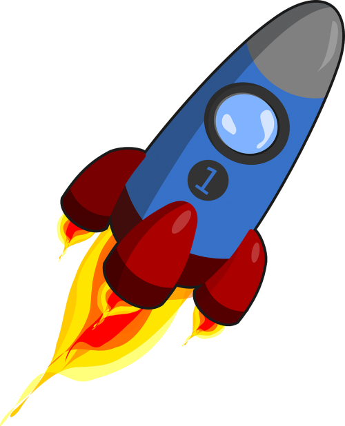 Raketa, Raketa, Kosminis Laivas, Pakilimas, Varomoji Jėga, Nemokama Vektorinė Grafika
