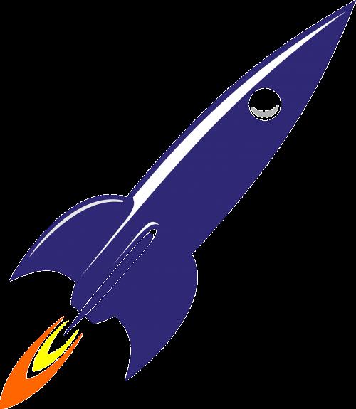 Raketa, Kosminis, Erdvėlaivis, Erdvė, Gabenimas, Raketa, Tarp Žvaigždžių, Astronautika, Nemokama Vektorinė Grafika