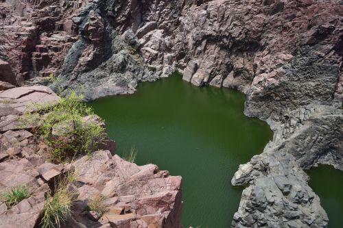 mineralinis, akmenys, ežeras, gamta, akmuo, vanduo, uolos ir ežeras