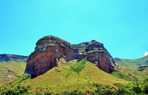 kalnai, Drakensbergas, auksiniai & nbsp, vartai & nbsp, nacionalinis & nbsp, parkas, uolingas palikimas
