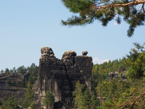 rohnspitze,domwächter,elbe smiltainis,žygis,smiltainio uolienos,kraštovaizdis,akmens formavimas,žygiai,Rokas,Elbe smiltainio kalnai,smiltainio kalnas,Saksonijos šveicarija,roko adatos,pragare siena
