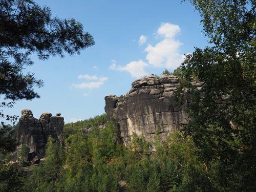 rohnspitze,domwächter,domriff,dompfeiler,elbe smiltainis,žygis,smiltainio uolienos,kraštovaizdis,akmens formavimas,žygiai,Rokas,Elbe smiltainio kalnai,smiltainio kalnas,Saksonijos šveicarija,roko adatos