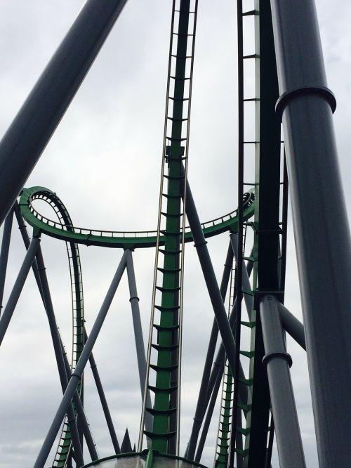 Rollocoaster,aukštas,greitis,didelis greitis,greitai,didelis greitis,Hulk,elektrinis,mašina