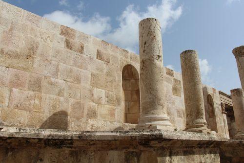 romėnų teatras,centro,amanas,architektūra,stulpeliai