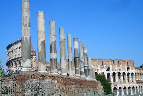 Roma,italy,senovė,stulpelis,kolosas,romanai,architektūra,lankytinos vietos,romėnų,pastatas,paminklas,Romos lankytinos vietos,turizmas,istoriškai,metropolis,arena,teatras