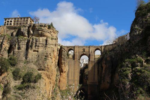ronda,Ispanija,Gorge,roko miestas,tiltas,Senamiestis,turistų atrakcijos