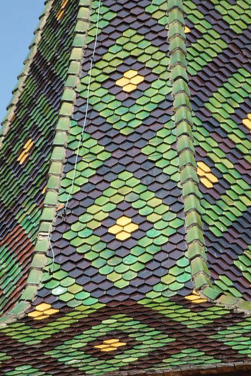 stogo čerpės,bokštas,bažnyčia,pastatas,france,Alsace,modelis,žalias,auksas,ruda,garbinimo namai,spire,farbenspiel