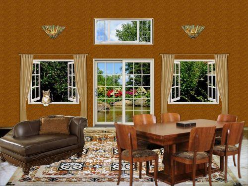 kambarys, interjeras, siena, grindys, namai, baldai, gyvenimas, erdvė, dekoruoti, patalpose, langas, aplinka, aplinka, namelis, pabėgimas, gyvenamasis