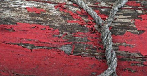 virvė, bagažinė, raudona, mediena