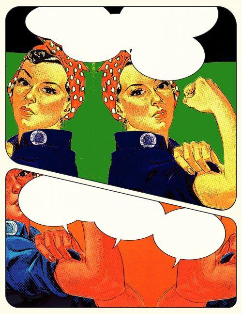 vintage, dizainas, senas & nbsp, madingas, retro, moteris, veidas, portretas, karas & nbsp, plakatas, rožinis & nbsp, riveteris, piktograma, usa, istorinis, apgaulingas, komiksas, animacinis filmas, kalbos & nbsp, burbuliukai, karo pastangos, laisvė, laisvė, kultūra, komiksų & nbsp, juostos, rosie komiksas klastingai