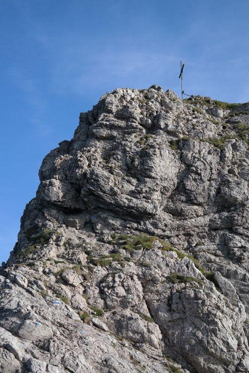 kietas ragas,laipiojimo vieta,kietas,uolingas,viršūnių susitikimas,aukščiausiojo lygio susitikimas,kirsti,Alpių,Allgäu Alpės