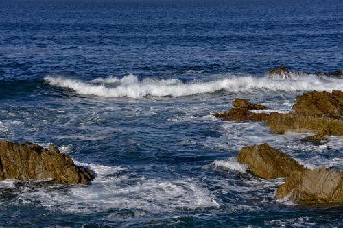 Asilomar, vandenynas, spalvos, mėlynas & nbsp, okeanas, mėlyna-žalia ocean, trys & nbsp, spalvos & nbsp, mėlynos spalvos, asilomar & nbsp, valstija & nbsp, paplūdimys, Kalifornija, akmenys, turkis, balta, Cove, lygio & nbsp, peržiūra, grubus naršymas