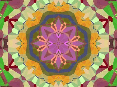 fonas, tapetai, abstraktus, figūra, geometrija, apvalus, spalvinga, apvalus kaleidoskopo modelis