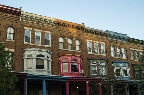 Eiliniai Namai, Miestas, Namai, Baltimore, Miesto, Namai, Gatvė, Architektūra