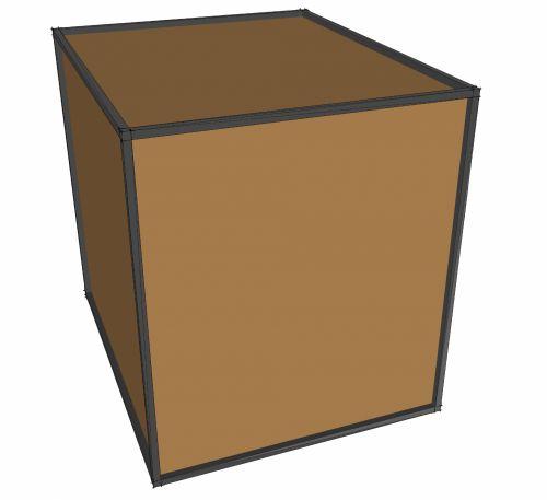 dėžė, ruda, tvirtas, dėžė, izoliuotas, piktograma, balta, mediena, laivyba, fonas, 3d, tvirtas dėžutė