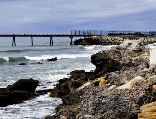 papludimys, jūra, akmenys, Krantas, tvirtas, vanduo, bangos, prieplauka, atostogos, vasara, tvirtas krantas