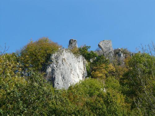 sugadinti hohengerhausen,sugadinti,pilis,pilies griuvėsiai,rusenschloss,aukštis burg,gerhausen,blaubeuren,alb donau ratas,baden württemberg