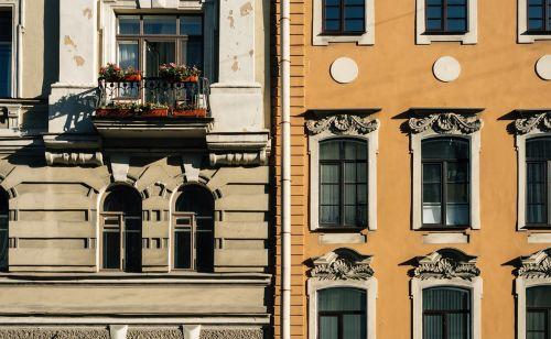 Rusija,st pete,Sankt Peterburgas,pastatas,langas,veidas,fasadas,senas,miesto