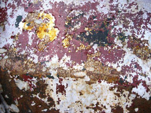 rūdys, dažyti, lustas, trauktis, tekstūra, korozija, raudona, geltona, pilka, ruda, vežimėlis, senas, Grunge, nyksta, lupimasis, tapetai, rūdys ir dažai