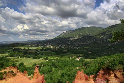rustrel,france,spalva,provencal colorado,Provence,Vaucluse,žemė,ochra,kanjonas,Provenceo spalva,gamta ir kraštovaizdis,kraštovaizdis,provenalinė spalva,Colorado