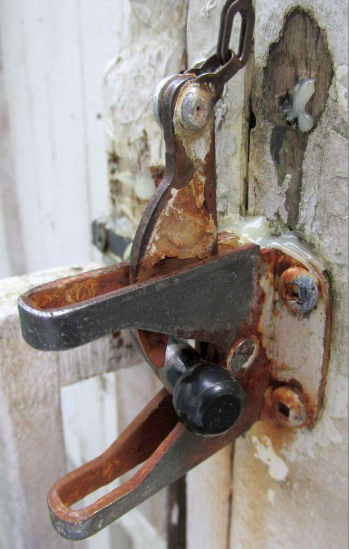 kita, rūdys, rusvas, užraktas, galinis kiemas, apsauga, saugumas, įranga, detalės, uždaryti & nbsp, rusty lock