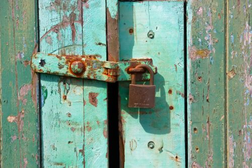 užraktas, rusvas, senas, Grunge, grungy, mediena, dažyti, pleiskanojimas, tekstūra, Iš arti, detalės, žalias, rusvas senas užraktas