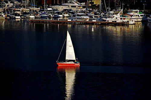 buriavimas,burinė valtis,jūrininkas,valtis,buriu,jūra,burinė valtis,vanduo,vandenynas,jūrinis,naktis,atspindys,ežeras