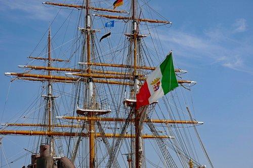 Burlaivis,  Plaukti Mokymo Laivą,  Amerigo Vespucci,  Pristatymas,  Mokymo Laivas,  Hamburg,  Hamburgo Uostas,  Plaukti,  Stiebai
