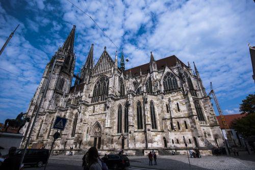 šv. Petro katedra,St Peterio katedra,regensburgas,katedra,Vokietija,st peter katedra,gotika,architektūra