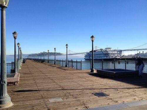 San Franciskas,peer,vanduo,valtis,tiltas,Kalifornija,kraštovaizdis,San Franciskas