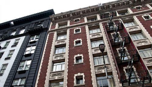San & nbsp, francisco, Kalifornija, miestas, pastatas, architektūra, pastatai, aukštas, apartamentai, plyta, plytos, dangus, mėlynas, ruda, debesys, langai, san francisco architektūra
