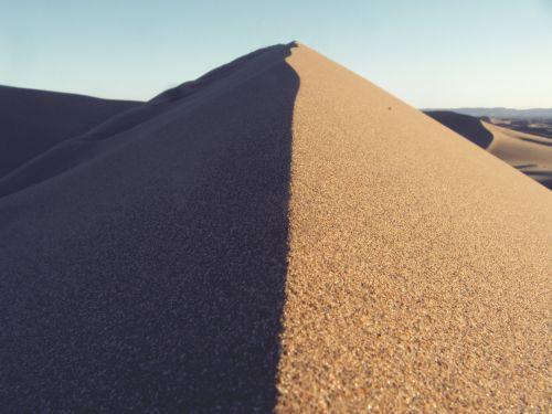 dykuma, sausas, kopos, kopos, šiluma, karštas, kraštovaizdis, gamta, oranžinė, smėlis, dangus, saulėtas, ramus, banga, geltona, smėlio kopos