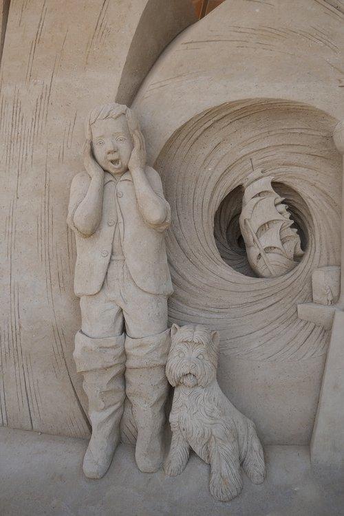 smėlio skulptūra, skulptūra, smėlio skulptūros, smėlio atvaizdo, smėlis, SANDBURG, laikinumą, Warnemünde, menininkai, menas
