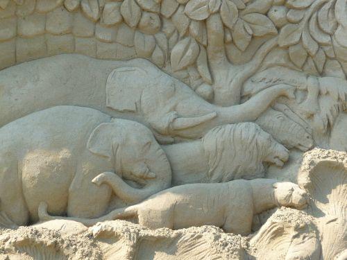 smėlio skulptūra,dramblys,veidas,ežero konstanta,Rorschach