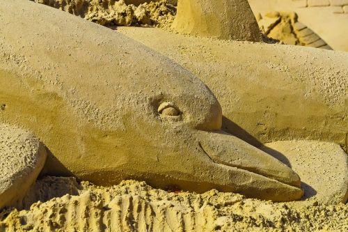 Sandburgas,menas,smėlio skulptūra,skulptūra,smėlis,statula,smėlio nuotrauka,meno kūriniai,pilis,papludimys,smėlio skulptūros,vasara,statyti,linksma,pritraukimas,Šiaurės kraštovaizdžio parkas Duisburgas,delfinai,gyvūnų figūra