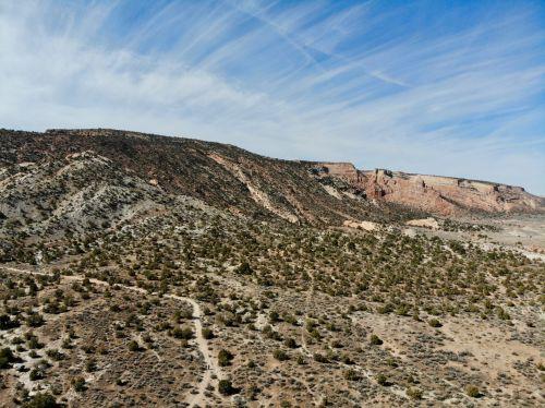 saulėlydis, Colorado, vakarų & nbsp, spalvotas, fruita, Colorado & nbsp, nacionalinis & nbsp, paminklas, antena, drones, peizažai, smiltainio lentyna Colorado nm