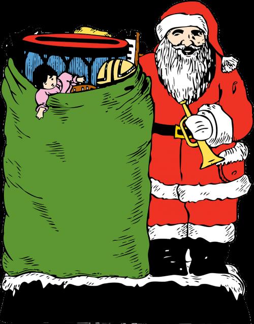 santa,Kalėdų Senelis,Kalėdų Senelis,Kalėdų Senelis,šventasis Nikolas,linksmas senas elfas,žaislų krepšys,Kalėdos,Kalėdų žaislai,gruodžio mėn .,nemokama vektorinė grafika