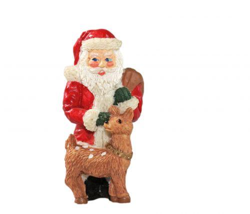 santa, santa & nbsp, claus, tėvas & nbsp, Kalėdos, Kalėdos, atostogos, apdaila, ornamentas, rudolph, šiaurės elniai, mielas, izoliuotas, balta, fonas, Santa Kalėdų puošmena