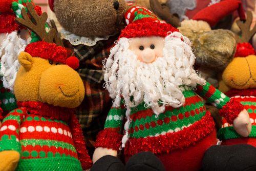 šventė, Kalėdos, Claus, apdaila, figūra, figūrėlė, laimingas, skrybėlę, šventė, linksmas, pliušas, portretas, šiaurės elniai, santa, xmas, Santa Claus ir elnias