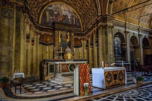 Santa Maria Saint satyras, bažnyčia, Religija, architektūra, krikščionybė, metai, interjero, Katalikų, paminklas, religinis, Milanas, Milano, Italija