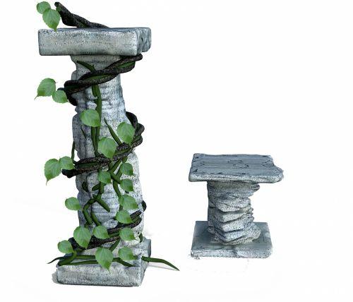 ramstis, tendril, senas, izoliuotas, žalias, lapai, alpinistas, augalas, sugadinti, ramstis