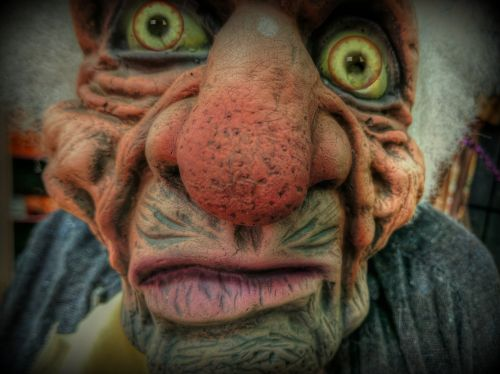 Halloween, veidas, baugus, negraži, baisus veidas